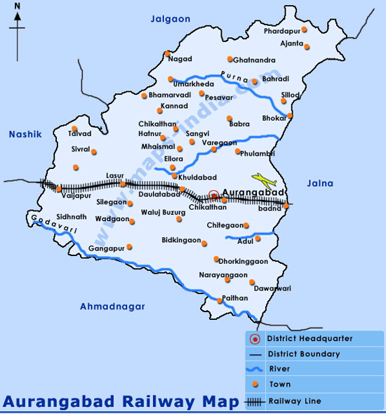 Aurangabad Railway Map