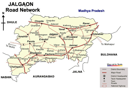 Jalgaon Road Map